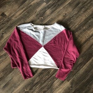 Free People Tops - Free People Montauk Pieced Sweatshirt